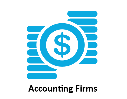 accounting firm icon of a money sign and stack of coins for computerized accounting city college