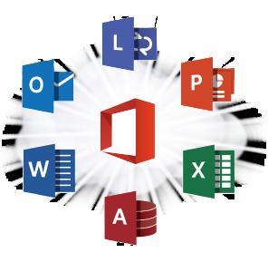 microsoft computer application logos