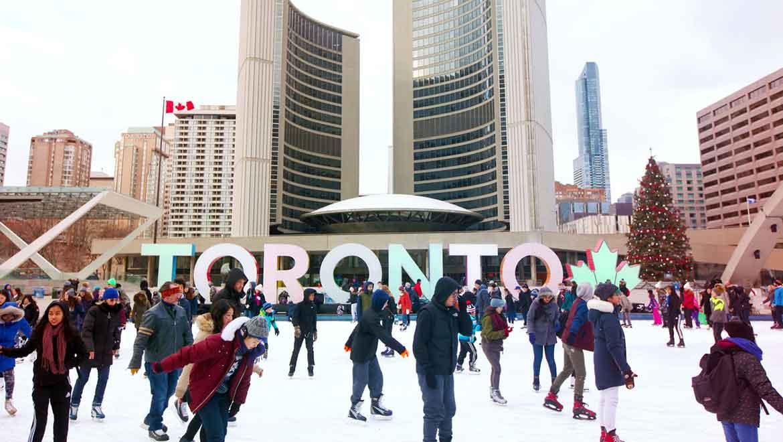 Toronto Ice Skating Winter Cold Weather